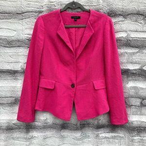 Ann Taylor Size 10 Pink Femme Tweed Blazer